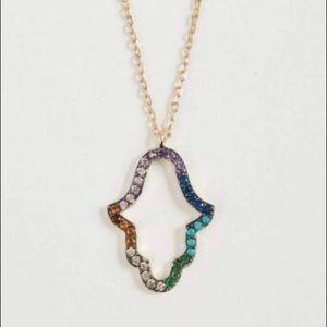 Shashi hamsa necklace & bracelet 18k gold vermeil